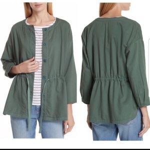 Eileen Fisher olive green jacket